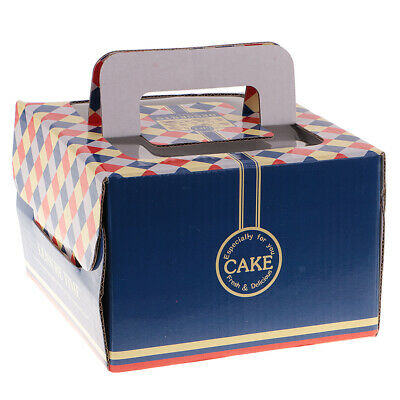 10pcs Novelty Navy Blue Cake Boxes Wedding Birthday Party Gift Shower Favors