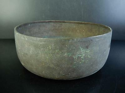 C2211:Japanese Old Copper BIG WASTE-WATER POT Kensui BUDDHIST BELL Orin, Buddhi