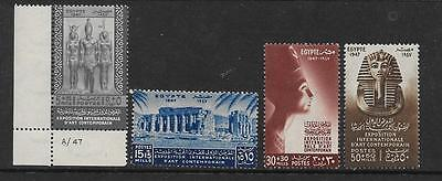 Middle East - Egypt Stamps - 1947 - Set Of (4) Int. Exhib. Fine Arts - Sg334/7 !