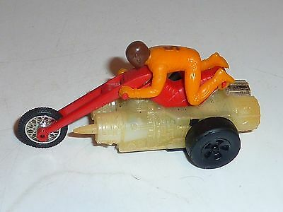 vintage 1971 chopcycle Redline Era Rrrumbler Red Blown Torch with Rider mattel