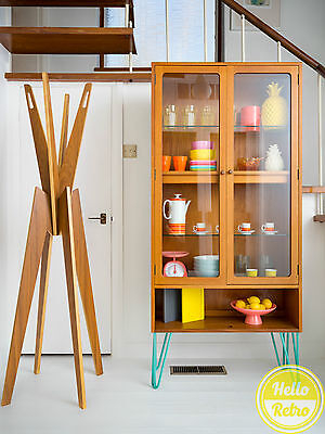 G Plan Mid Century Bookshelf Bookcase Toy Glass Display Cabinet Hairpin Legs