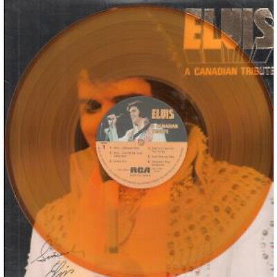 ELVIS PRESLEY A Canadian Tribute LP VINYL US Rca 12 Track Clear Yellow Vinyl