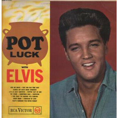 ELVIS PRESLEY Pot Luck LP VINYL US Rca 12 Track Mono Silver Spot Issue In A