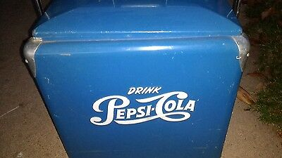 Vintage PEPSI COLA COOLER ICE CHEST w/ Tray NO RUST EXCELLENT CONDITION