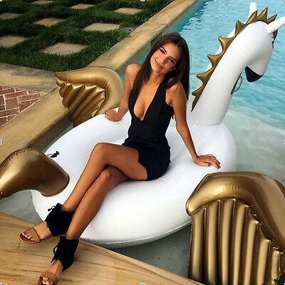 UK!Giant Inflatable Pegasus Pool Float Swimming Summer Beach Party Toy Water Fun
