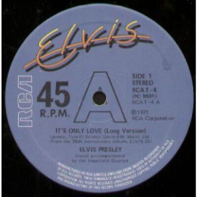 "ELVIS PRESLEY It's Only Love 12"" MAXI VINYL UK Rca 2 Track Long Version"