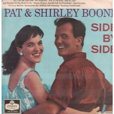 PAT AND SHIRLEY BOONE Side By Side LP VINYL UK London 12 Track In A Flipback