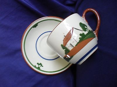 Dartmouth Devon Motto Ware Giant Cup Saucer = dont worry it might never happen