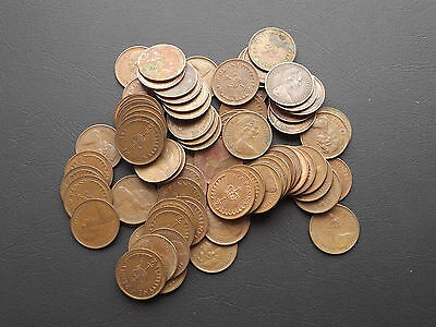 Decimal Collection of 70+ ½ Penny Coins (L1-19)