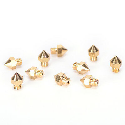 10x Brass 0.4mm Extruder Nozzle Print Head for MK8 Makerbot Prusa i3 3D PrinterS