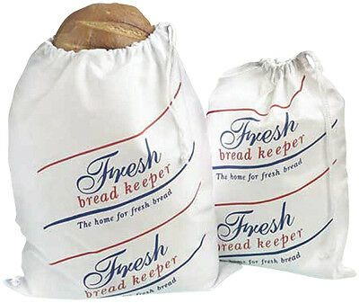 NEW Lakeland 6091  Large Drawstring Cotton Bread Storage Bag