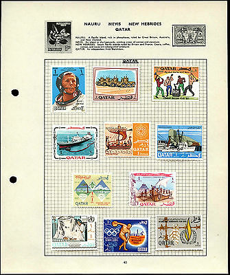 Qatar Album Page Of Stamps #V4563