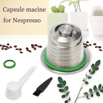 Stainless Steel Metal Capsule Refillable Reusable Nespresso Compatible Machine
