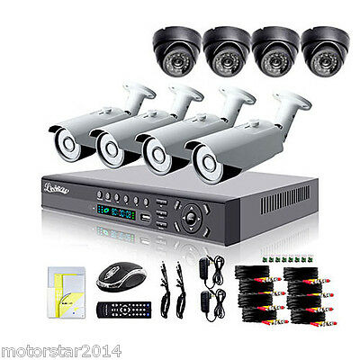 700TVL Outdoor Day/Night Security Camera and 8CH HDMI 960H Network DVR System