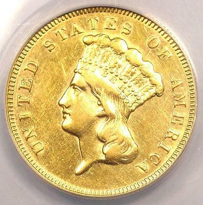 1878 Three Dollar Indian Gold Piece $3 - ANACS AU50 Details - Rare Coin!