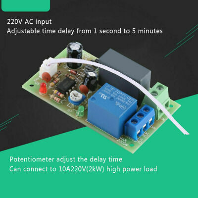 AC 220V Adjustable Timer Delay Switch Turn Off Time Relay Module PLC New