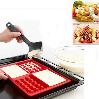 Square DIY Silicone Cake Mould Waffles Cake Chocolate Pan Baking Mould Tools