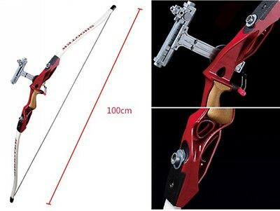 "Outdoor Sports Fitness Equipment 39"" Red Children Kids Archery Recurve Bow Arrow"