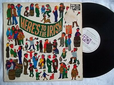 VARIOUS Here's To The Irish Vol 2 LP (Larry Cunningham Grehan Sisters)
