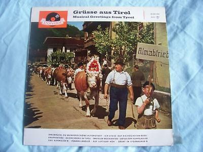 "VARIOUS ARTISTS Musical Greetings from Tyrol 10"" LP"