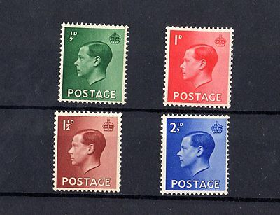 GB KEVIII 1936 Set Of 4 Mint MNH X7018