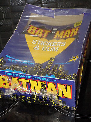 FULL BOX 1989 BATMAN Dandy Bubble Gum Trading Sticker Cards Aust Vintage