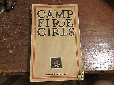 The Book of the Camp Fire Girls 1914 Rare Fifth Edition!  Brownies Girl Scouts