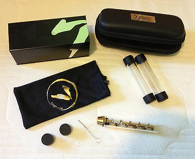 Genuine 7 pipe Twisty glass blunt + accessories