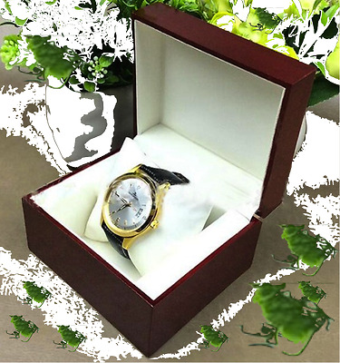 Watch Gift Wooden Box High Quality for 1 wristwatch Leather pillow for Rolex etc