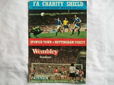 Ipswich Town v Nottingham Forest 12.8.78 Charity Shield Programme