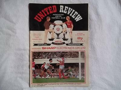 Manchester United v Newcastle United 4.9.85 programme