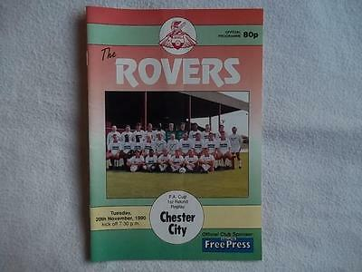 Doncaster Rovers v Chester City 20.11.90 programme