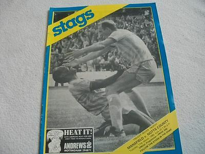 Mansfield Town v Notts.County 11.3.86 Programme