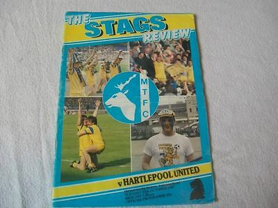 Mansfield Town v Hartlepool United 27.10.87 Programme