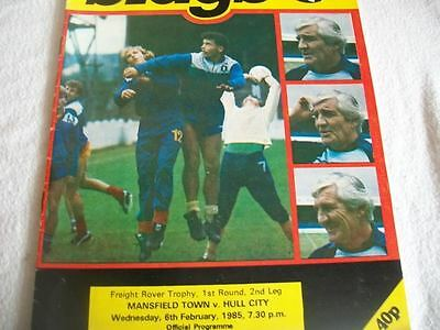 Mansfield Town v Hull City 6.2.85 Programme