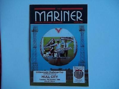 Grimsby Town v Hull City 7.10.86 programme