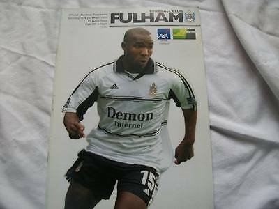 Fulham v Luton Town 11.12.99 Programme