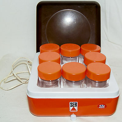 Yaourtiere Seb 8 Pots + Notice Vintage 1970 Yoghurt Maker 8 Cups +Recipes