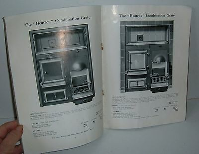 ** VINTAGE 1920s CATALOGUE OVEN + FIRE GRATES with PRICES **