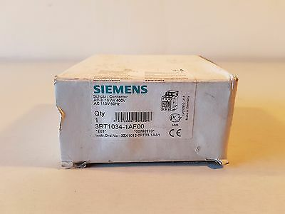 Siemens 3RT1034-1AF00 3-Pole Contactor, AC-3 15 kw/400