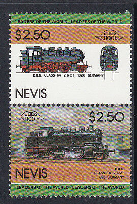 Nevis Loco 100 Drg Class 64 Locomotive Germany Stamps Mnh