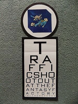 Traffic (Prog Rock) Rare 1973 Island Records Promotional Poster 202mm X 550mm