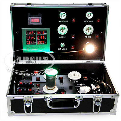 Hand Aluminum Case Trolley LED Light Power Demo Test Display Show Meter Tester