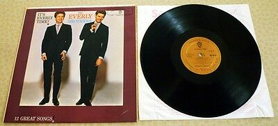 THE EVERLY BROTHERS, IT'S EVERLY TIME, 1st ISSUE GOLD WARNER BROS LABEL LP.