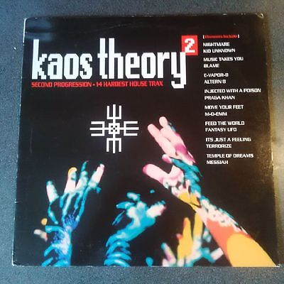 Kaos Theory 2 - RAVE Old Skool Hard House Compilation LP Vinyl Album - RARE.1992