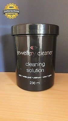 Jewellery Cleaner Bath With Brush And Basket 236Ml Gold Silver Platinum...