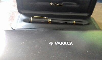 Parker smart black and gold rollerball