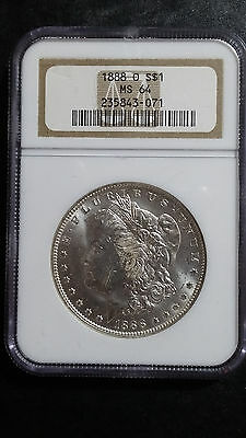 1888-O Morgan silver dollar NGC MS64 GORGEOUS 90% Silver US coin FREE S&H!!