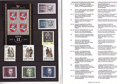 Lithuania year 1995 complete set in a folder