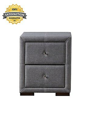 Attractive Quality Sorrento 2 Drawer Nightstand Drawers Fabric Grey